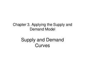 Chapter 3. Applying the Supply and Demand Model. Supply and Demand Curves