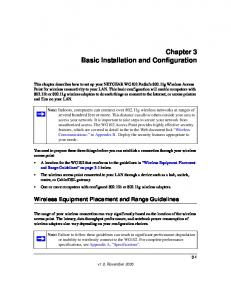 Chapter 3 Basic Installation and Configuration
