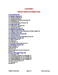 CHAPTER 3 Boolean Algebra and Digital Logic