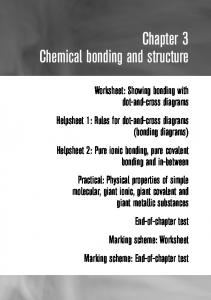 Chapter 3 Chemical bonding and structure