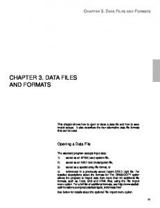 CHAPTER 3. DATA FILES AND FORMATS