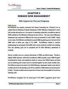 CHAPTER 3 DEMAND SIDE MANAGEMENT