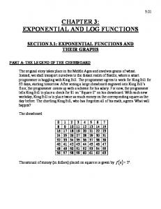 CHAPTER 3: EXPONENTIAL AND LOG FUNCTIONS