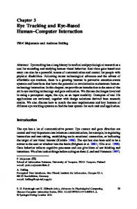 Chapter 3 Eye Tracking and Eye-Based Human Computer Interaction