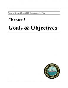 Chapter 3 Goals & Objectives