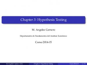Chapter 3: Hypothesis Testing