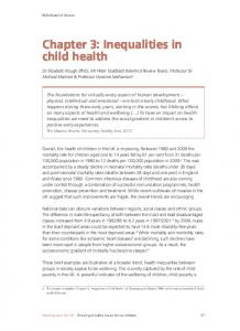 Chapter 3: Inequalities in child health