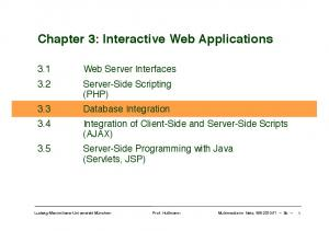 Chapter 3: Interactive Web Applications