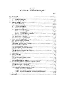 Chapter 3 Noncohesive Sediment Transport