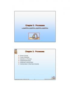 Chapter 3: Processes. Chapter 3: Processes