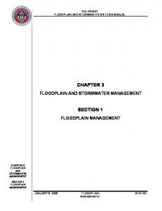 CHAPTER 3 SECTION 1 COLORADO FLOODPLAIN AND STORMWATER CRITERIA MANUAL CH3-100 MANAGEMENT CHAPTER 3 FLOODPLAIN AND STORMWATER MANAGEMENT