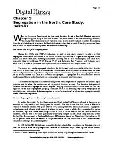 Chapter 3 Segregation in the North; Case Study: Boston7