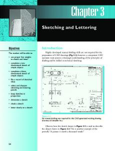 Chapter 3. Sketching and Lettering. Introduction. Objectives