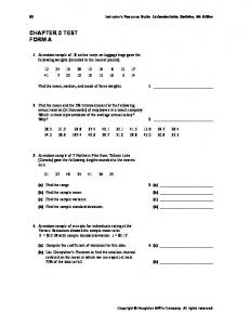 CHAPTER 3 TEST FORM A