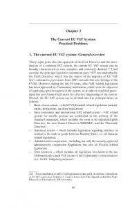 Chapter 3. The Current eu vat System: Practical Problems. 1. The current EU VAT system: General overview