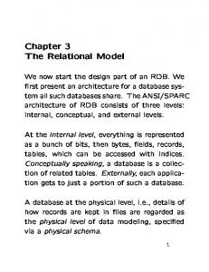 Chapter 3 The Relational Model