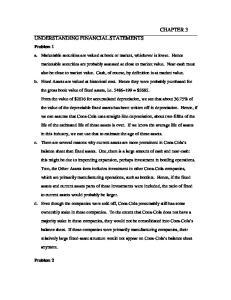 CHAPTER 3 UNDERSTANDING FINANCIAL STATEMENTS. Problem 1