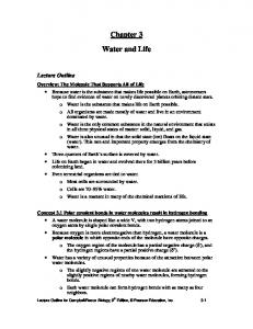 Chapter 3. Water and Life