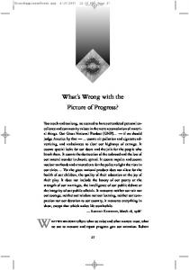 chapter 3 What s Wrong with the Picture of Progress?