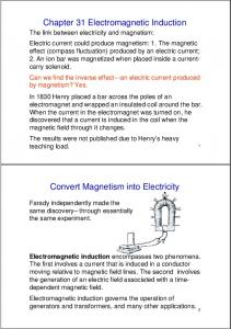 Chapter 31 Electromagnetic Induction