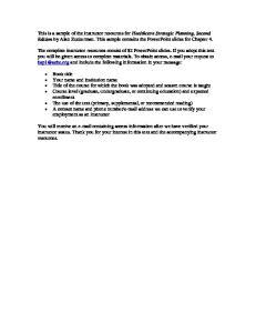 Chapter 4 Activity II: Identifying Organizational Direction