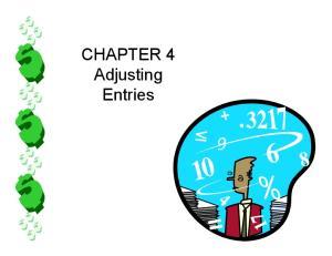 CHAPTER 4 Adjusting Entries