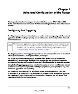 Chapter 4 Advanced Configuration of the Router