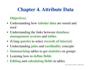 Chapter 4. Attribute Data