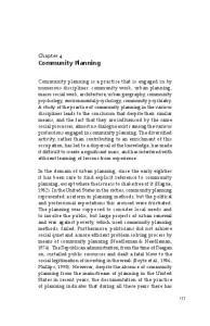 Chapter 4 Community Planning