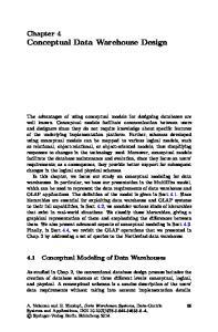 Chapter 4 Conceptual Data Warehouse Design