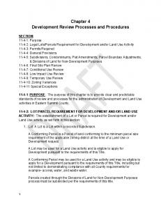 Chapter 4 Development Review Processes and Procedures