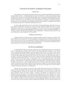 CHAPTER 4. FLUID FLOW AND SEDIMENT TRANSPORT