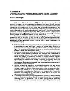 CHAPTER 4. FOUNDATIONS OF PIERRE BOURDIEU S CLASS ANALYSIS