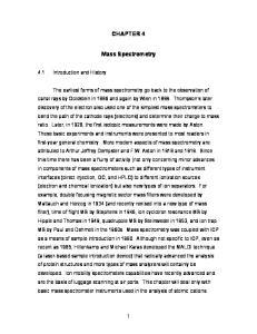 CHAPTER 4. Mass Spectrometry