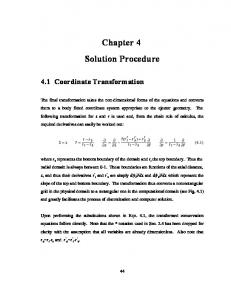 Chapter 4 Solution Procedure