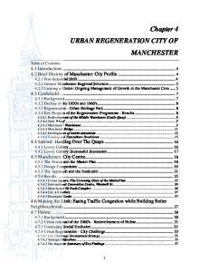 Chapter 4 URBAN REGENERATION CITY OF MANCHESTER
