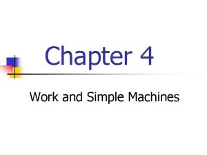 Chapter 4. Work and Simple Machines