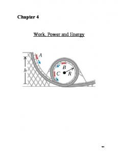 Chapter 4. Work, Power and Energy