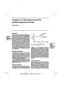 Chapter 47: Menopause and the postmenopausal woman