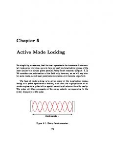 Chapter 5. Active Mode Locking