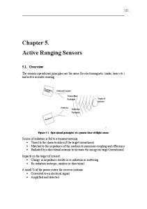 Chapter 5. Active Ranging Sensors