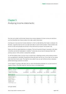 Chapter 5 Analysing income statements