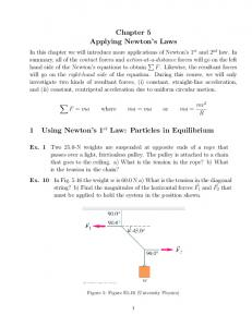 Chapter 5 Applying Newton s Laws