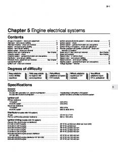 Chapter 5 Engine electrical systems
