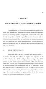 CHAPTER 5 FEM SENSITIVITY ANALYSIS OF SHEAR FRICTION