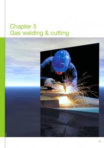Chapter 5 Gas welding & cutting