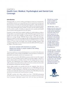 CHAPTER 5: Health Care: Medical, Psychological and Dental-Care Coverage