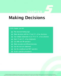 CHAPTER 5. Making Decisions