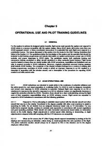 Chapter 5 OPERATIONAL USE AND PILOT TRAINING GUIDELINES