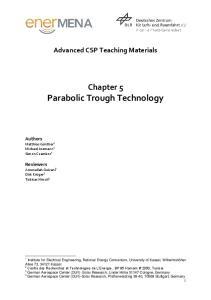 Chapter 5 Parabolic Trough Technology